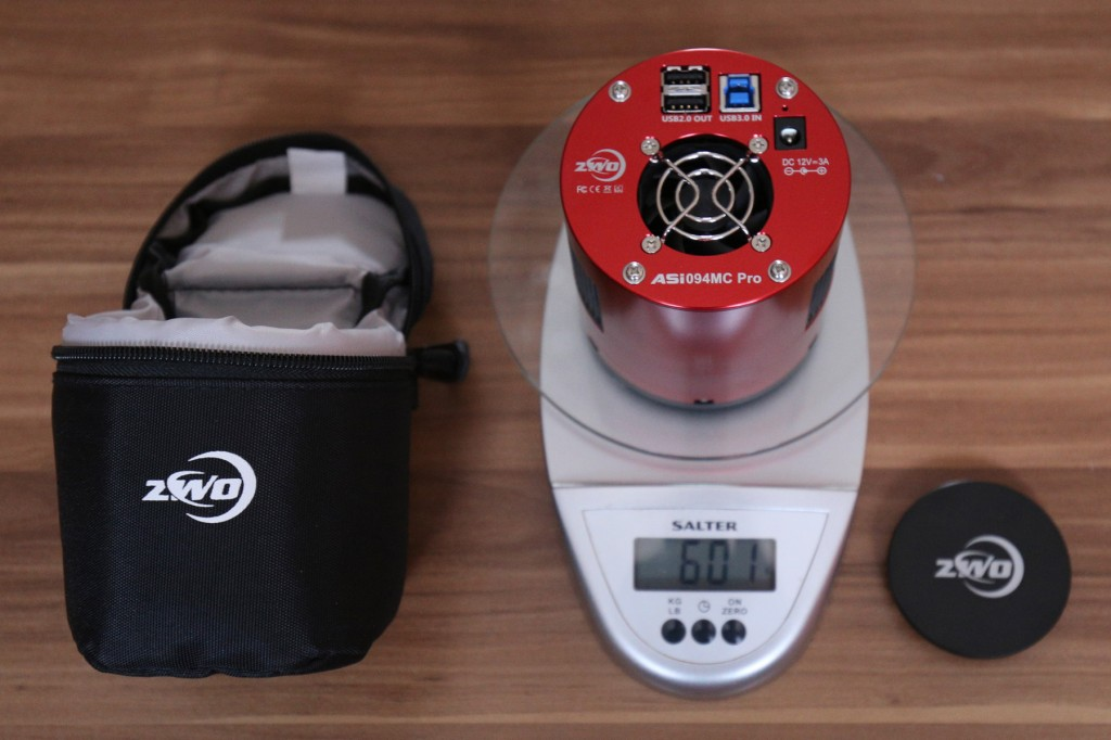ZWO ASI094MC - weight without the cap is 601g
